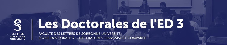 Les Doctorales de l'ED III — Faculté des Lettres de Sorbonne Université